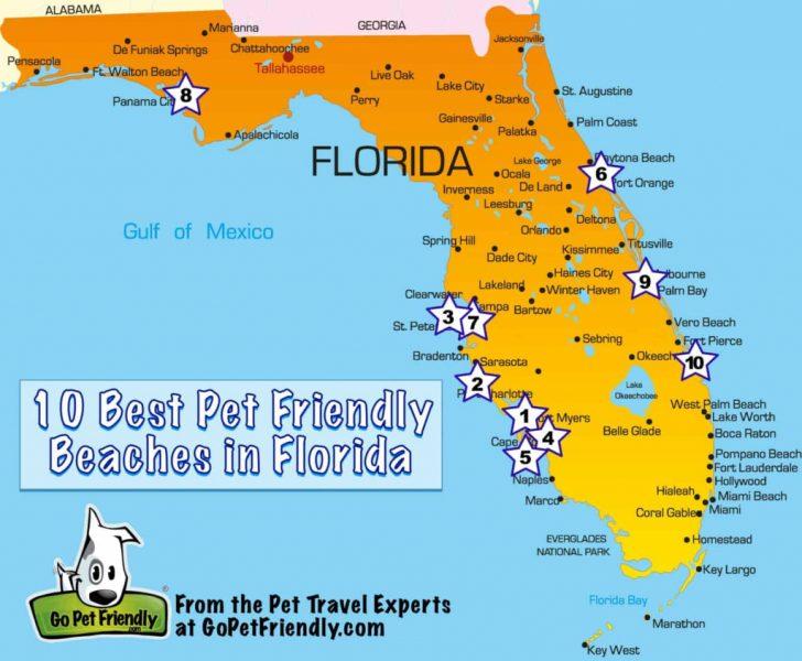 Florida Vacation Destinations Map