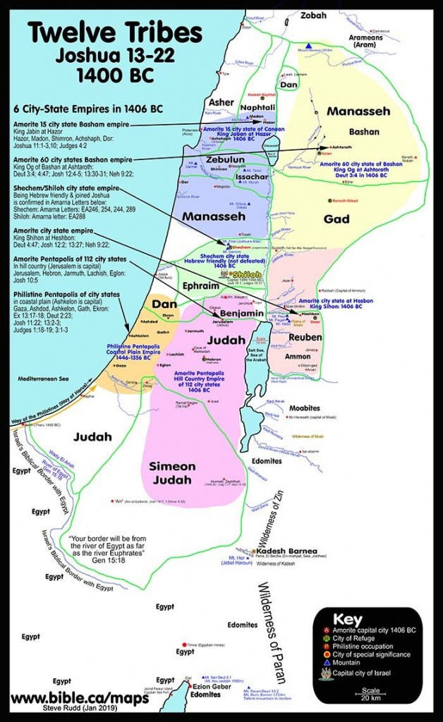 100 Free Printable Public Use Bible Maps   Bible Chronology - Printable Bible Maps