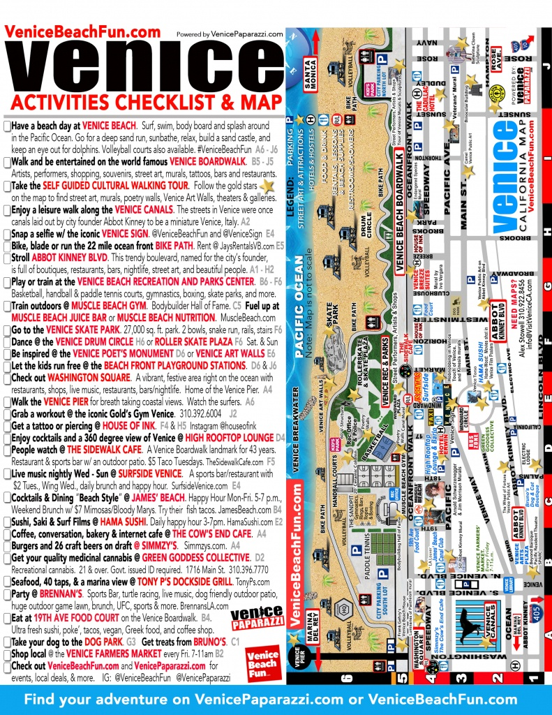 100+ Things To Do In Venice Beach – Venice Paparazzi   Venice Beach - California Things To Do Map