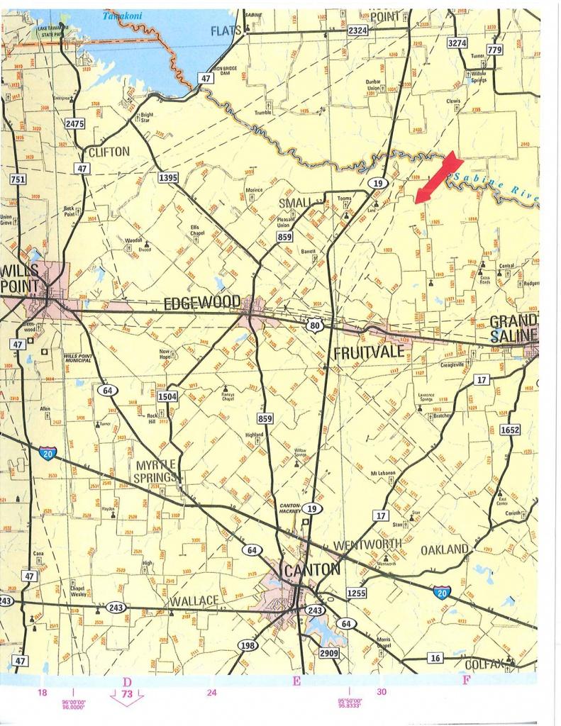 103 Acres In Van Zandt County, Texas - Van Zandt County Texas Map