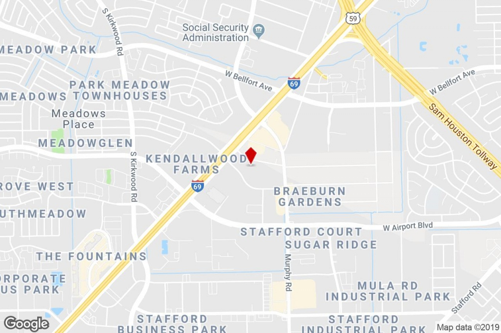 10635 Brighton Ln, Stafford, Tx, 77477 - Warehouse Property For Sale - Stafford Texas Map