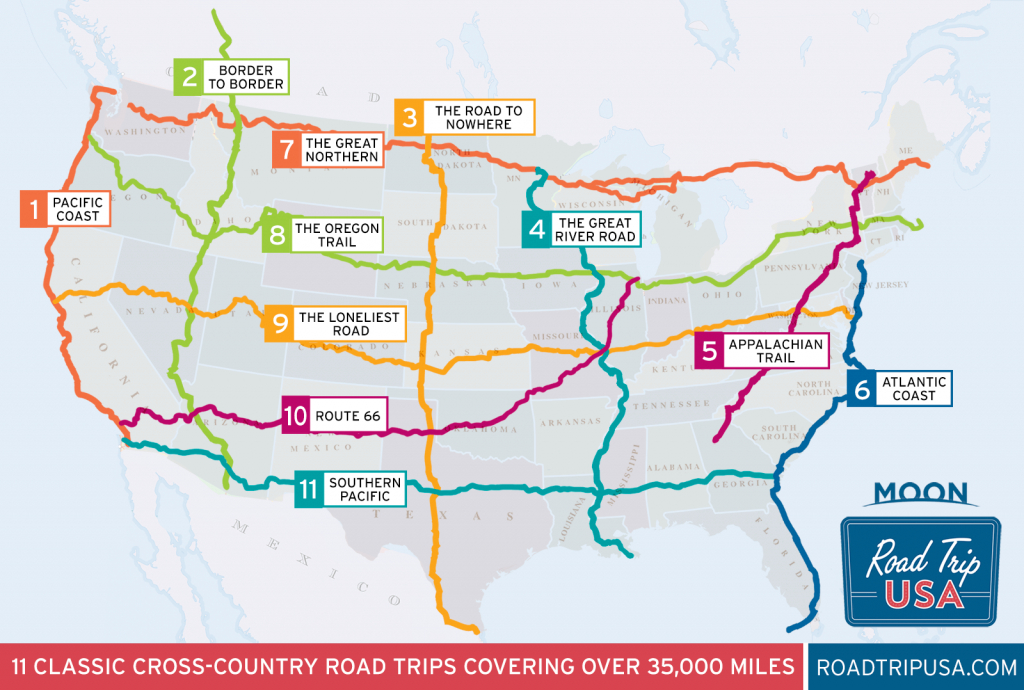 11 Epic Cross-Country American Road Trips | Road Trip Usa - California To Florida Road Trip Map