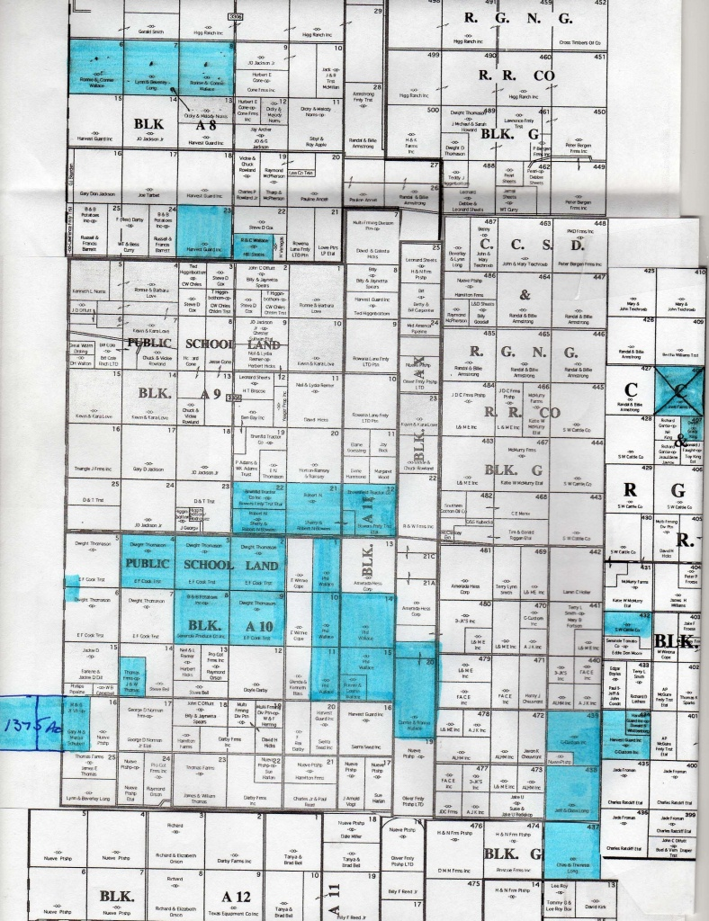 11000 Acres In Gaines County, Texas - Gaines County Texas Section Map