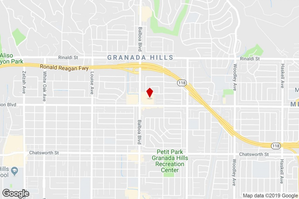 11112-11160 Balboa Blvd, Granada Hills, Ca, 91344 - Storefront - Granada Hills California Map