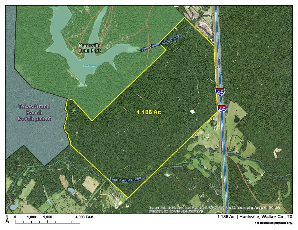 1186 Acres | I-45 Frontage | Homeland Properties - Texas Grand Ranch Map