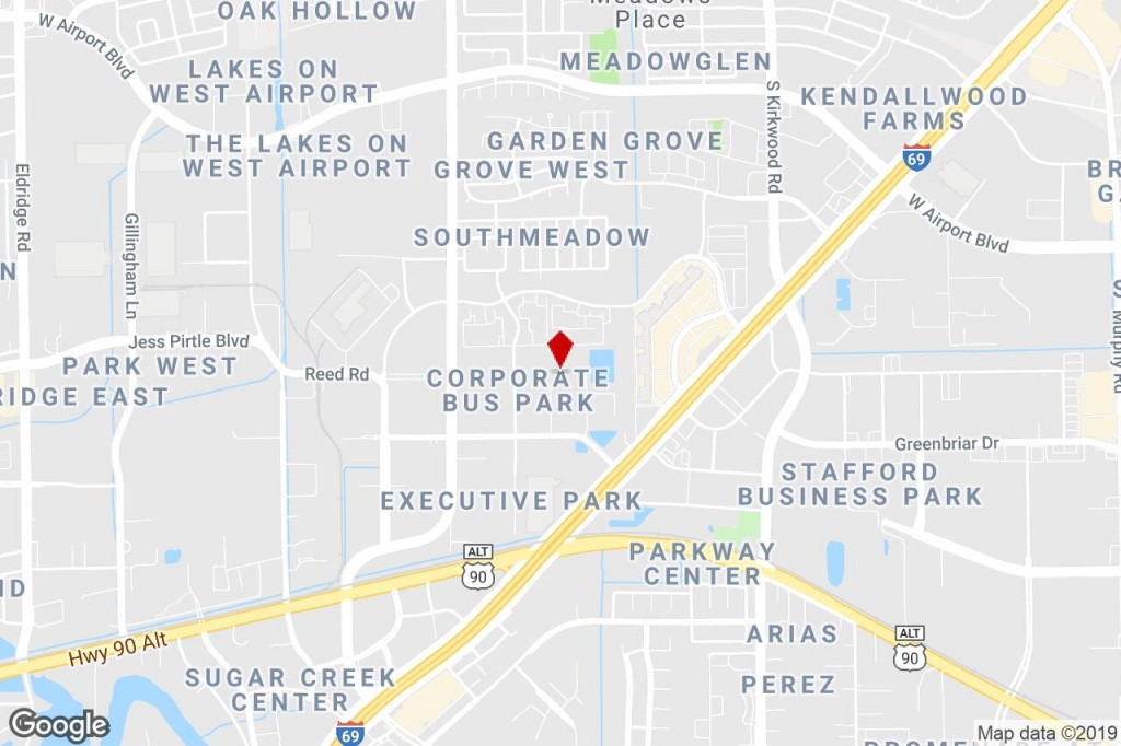 12503 Exchange Dr, Stafford, Tx, 77477 - Distribution Property For - Stafford Texas Map