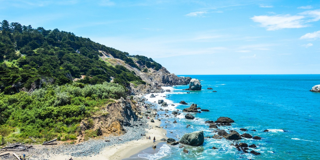 13 Best Beach Camping Sites In California - Where Can You Camp On - Camping Northern California Coast Map