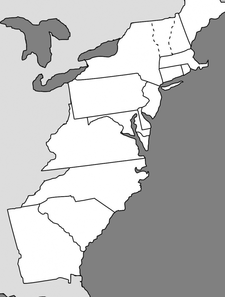 13 Colonies Map | Cc Cycle 3 - Geography | 13 Colonies, Map Quiz - Printable Map Of The 13 Colonies With Names