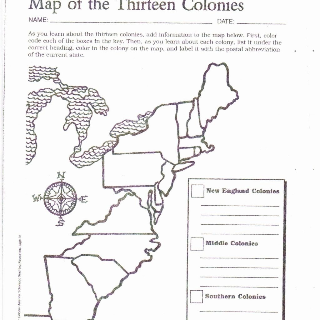 13 Original Colonies Blank Map Coloring Page Awesome - Map Of The 13 Original Colonies Printable
