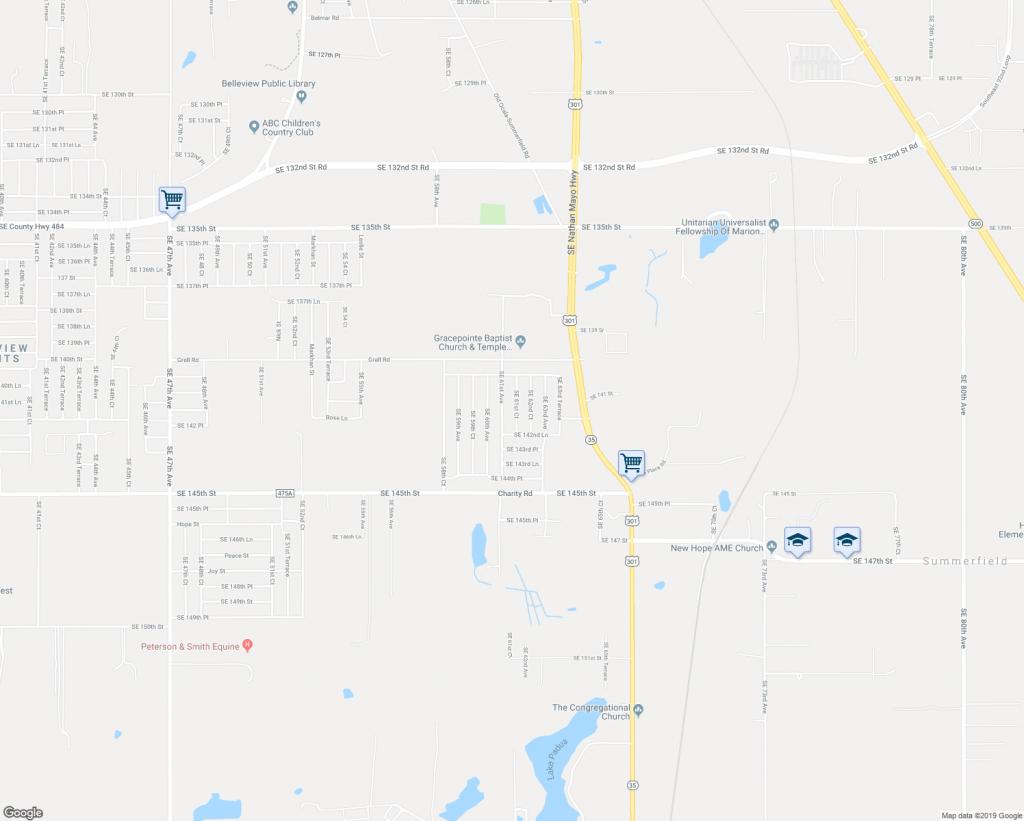 14196 Southeast 61St Court, Summerfield Fl - Walk Score - Summerfield Florida Map