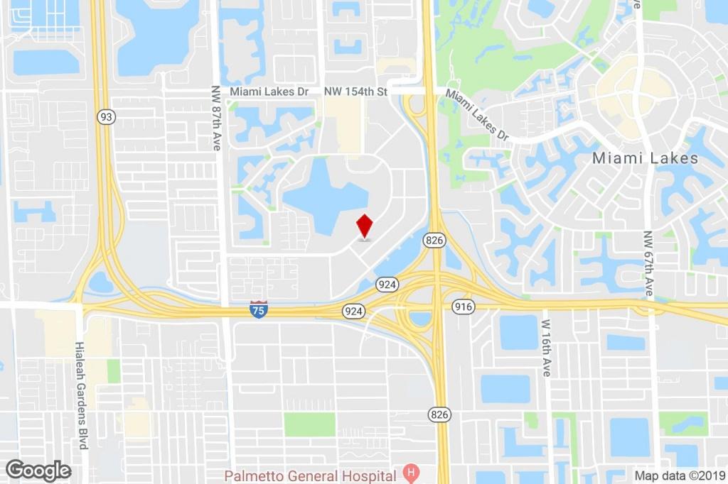 14261 Commerce Way, Miami Lakes, Fl, 33016 - Property For Lease On - Miami Lakes Florida Map
