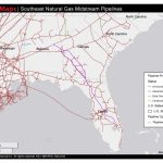 1448×1123 Map Of Southeast Mid Stream Natural Gas Pipelines, In   Florida Gas Pipeline Map