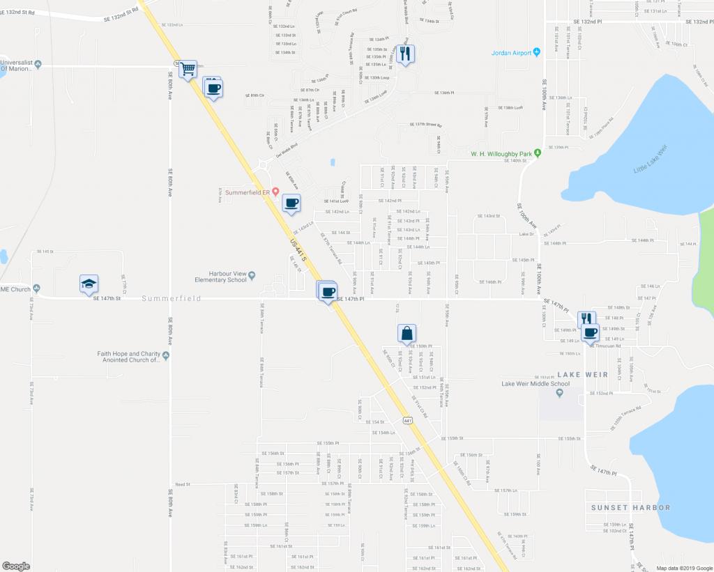 14691 Southeast 90Th Avenue, Summerfield Fl - Walk Score - Summerfield Florida Map