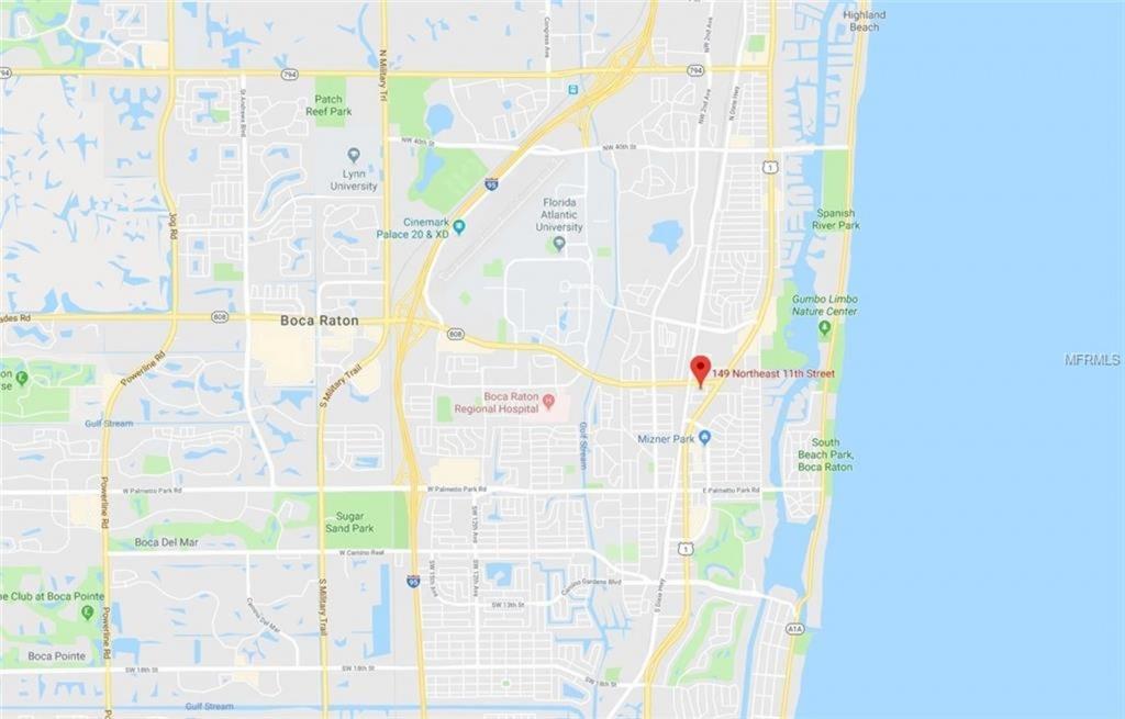 149 Ne 11Th Street, Boca Raton, Fl 33432   Mls# A4434823   Purplebricks - Boca Florida Map