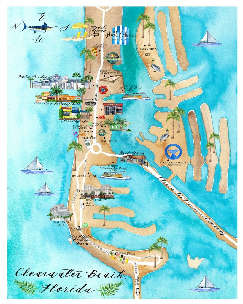 15 Clearwater Beach Map | Ageorgio - Map Of Clearwater Florida Beaches