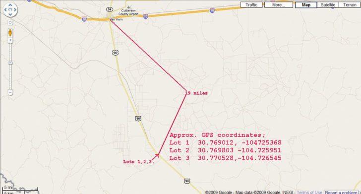 Van Horn Texas Map