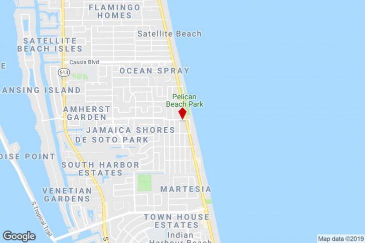 Satellite Beach Florida Map