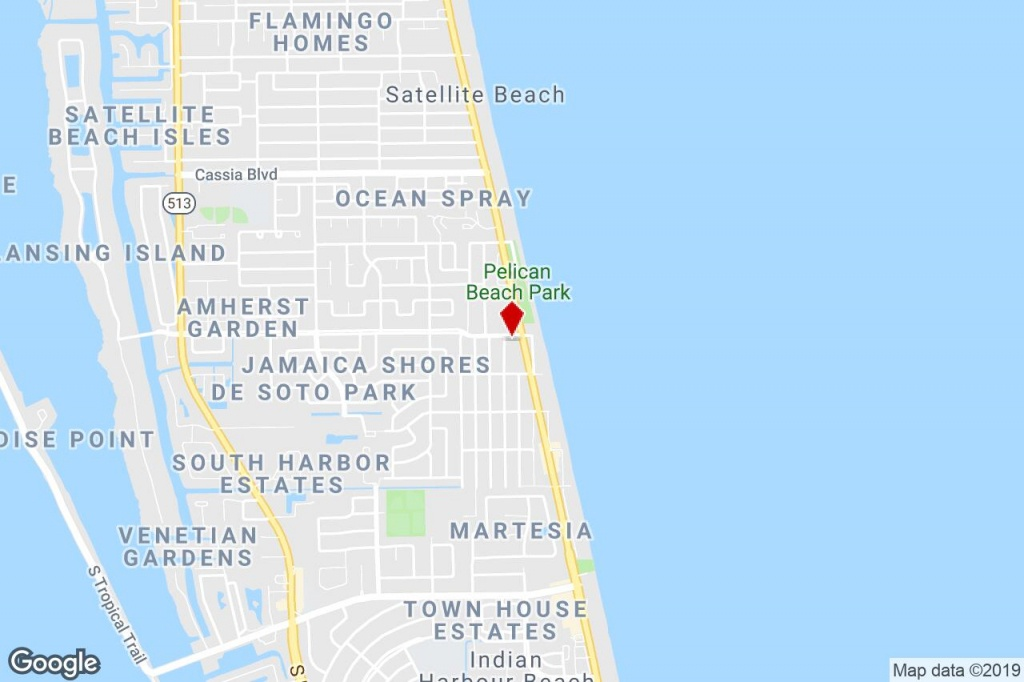 1604-1612 Highway A1A, Satellite Beach, Fl, 32937 - Commercial - Satellite Beach Florida Map
