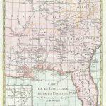 1780 Bonne And Raynal Map Of Florida, Louisiana, And The Carolinas - Florida Louisiana Map