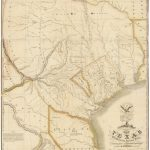 """1830 First Edition Of The Austin Map Of Texas: """"The Map Of Texas I   Old Texas Maps Prints"""