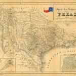 1849 Map Of Texas Old Texas Map, Texas, Map Of Texas, Vintage   Old Texas Maps Prints