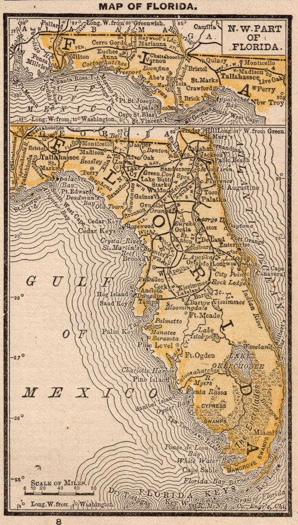 Antique Florida Map