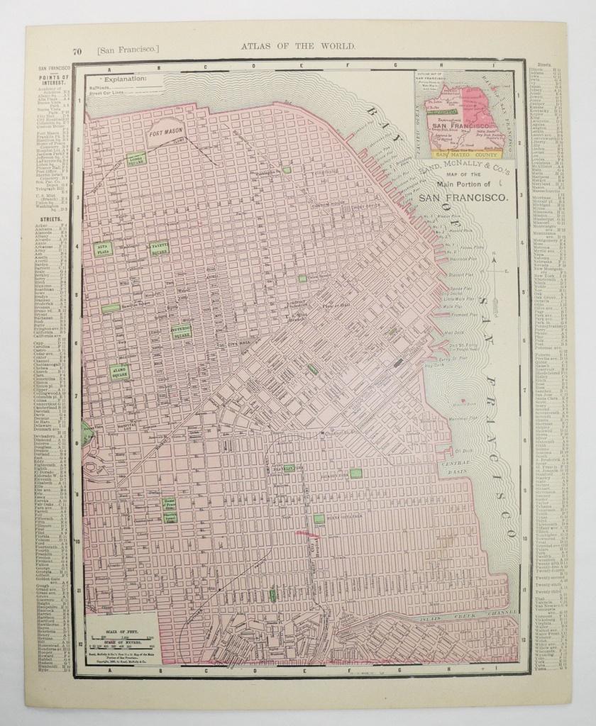 1900 Rand Mcnally San Francisco California Map Original | Etsy - Spg California Map