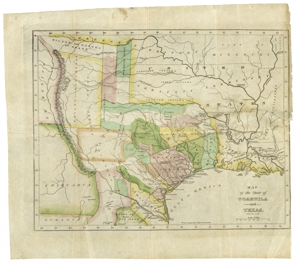 190Th Anniversary Of The Constitution Of The Free State Of Coahuila - Texas General Land Office Maps