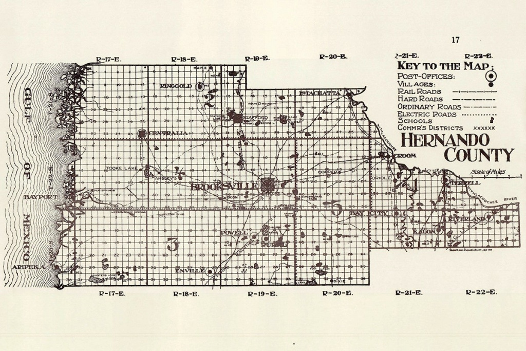 1914 Map Of Hernando County Florida | Etsy - Map Of Hernando County Florida