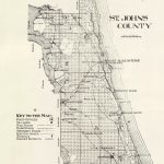 1914 Map Of Saint Johns County Florida Saint Augustine | Etsy   Map Of St Johns County Florida