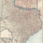 1925 Antique Texas Map Oklahoma Map State Map Of Oklahoma Print   Map Of Oklahoma And Texas