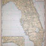1944 Rare Size Antique Florida State Map Vintage Map Of   Etsy - Vintage Florida Map Poster
