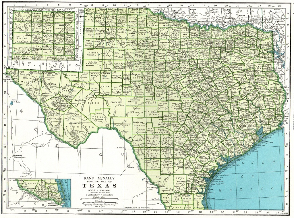 1946 Vintage Texas Map Of Texas State Map Print Gallery Wall Art Map - Vintage Texas Map Framed