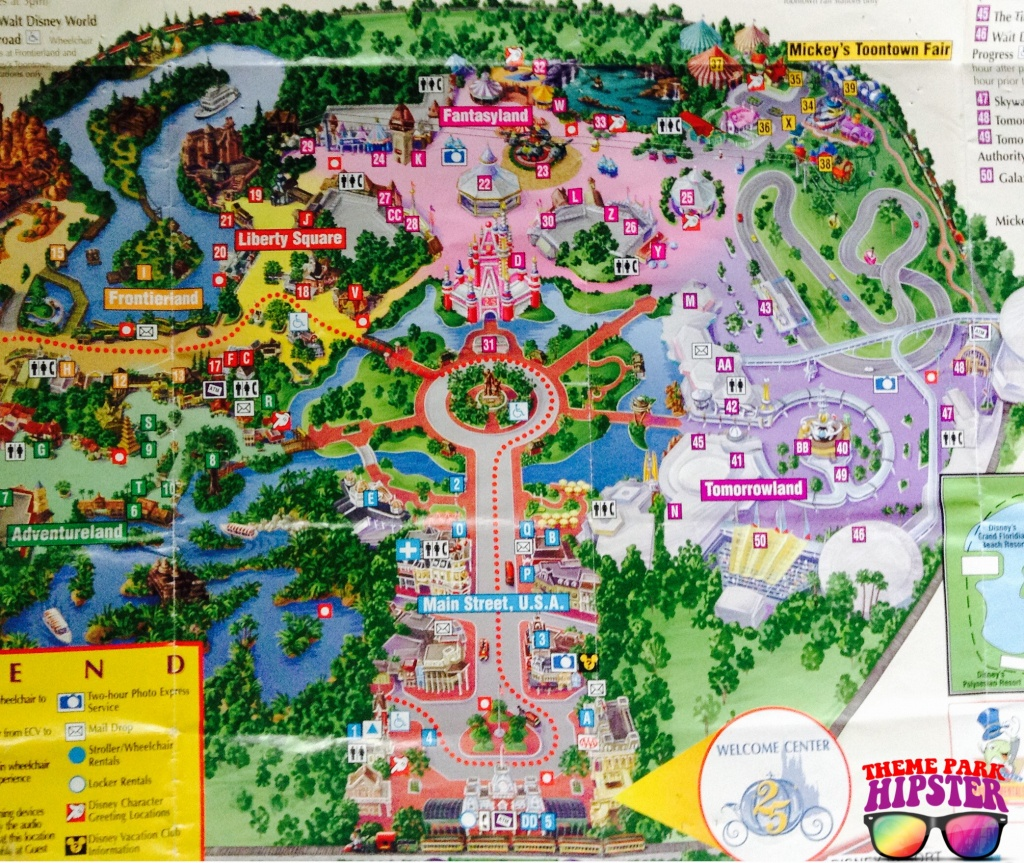 1997 Magic Kingdom Park Map - Themeparkhipster - Magic Kingdom Florida Map