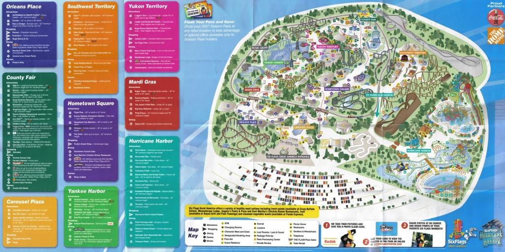 2007Parkmap Great America Park Map 0 - World Wide Maps - Six Flags Great America Printable Park Map
