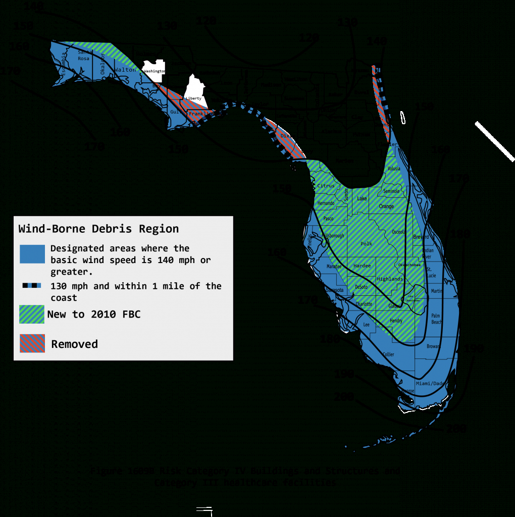 2010 Wind Maps - Florida Wind Zone Map 2017