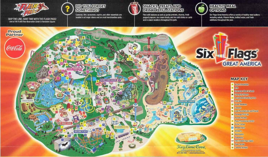 2011Map Six Flags Great America Map 0 - World Wide Maps - Six Flags Great America Printable Park Map