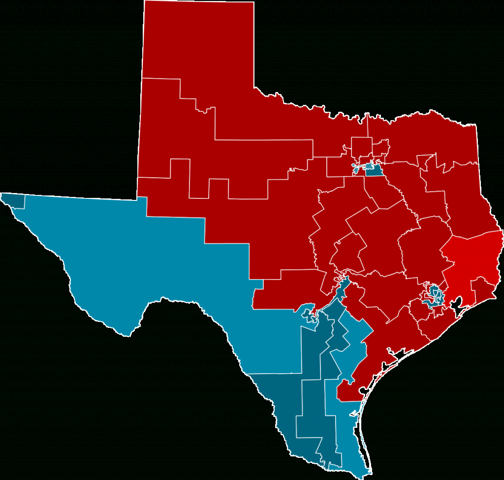 2012 United States House Of Representatives Elections In Texas - Texas State Representatives District Map