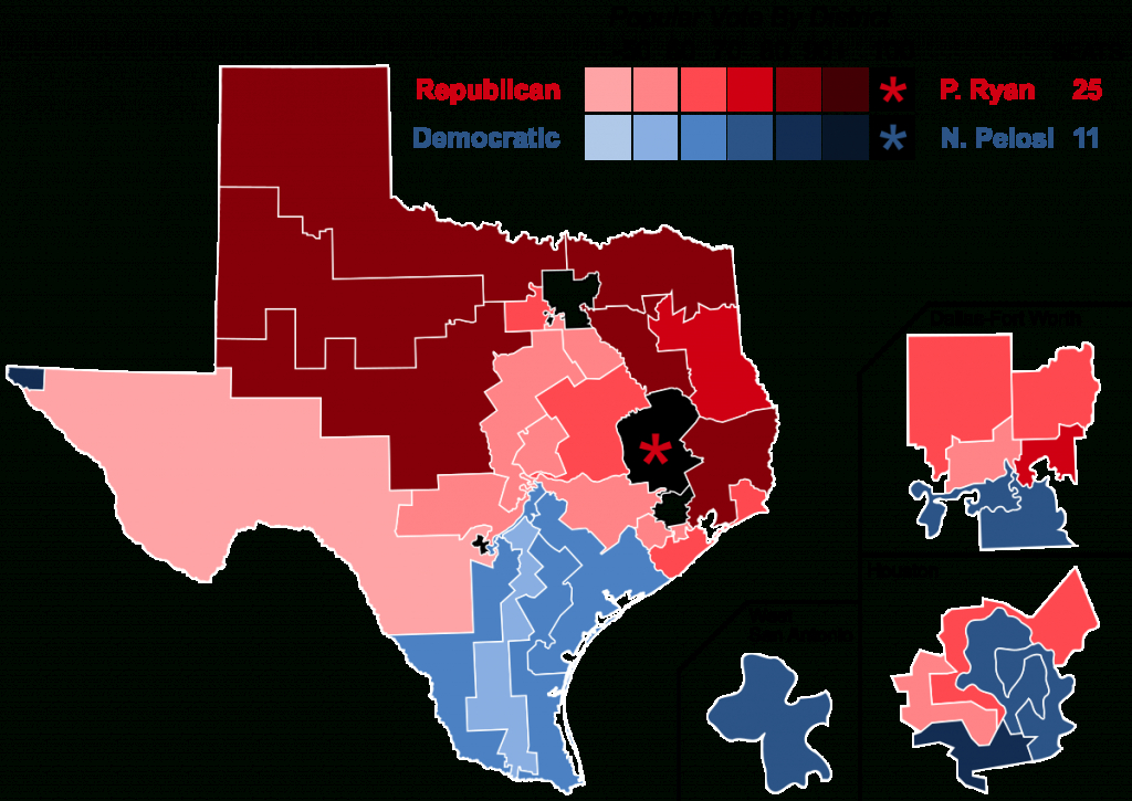 2016 United States House Of Representatives Elections In Texas - Texas State Representatives District Map