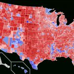 2016 Us Presidential Election Mapcounty & Vote Share – Brilliant - 2016 Printable Electoral Map