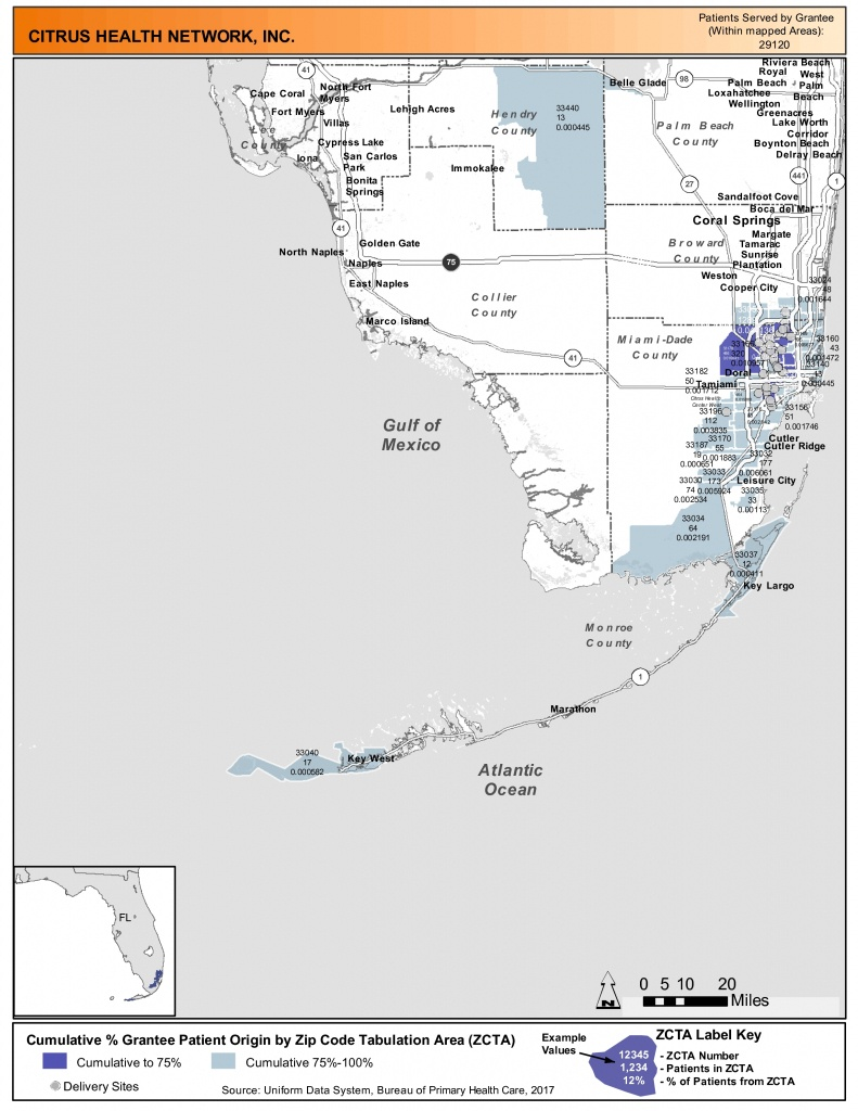 2017 Citrus Health Network, Inc. Health Center Program Awardee Data - Citrus Cove Florida Map