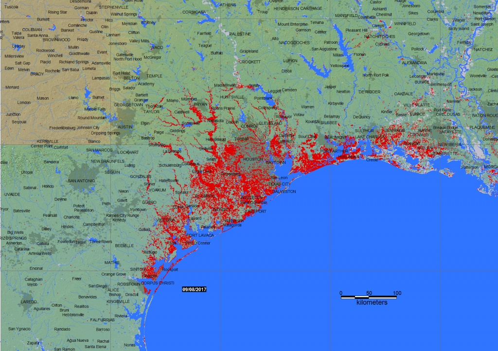 2017 Flood Usa 4510 - Map Of Flooded Areas In Texas
