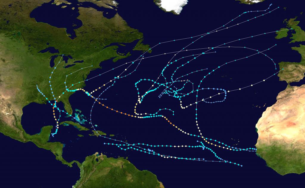 2018 Atlantic Hurricane Season - Wikipedia - Printable Hurricane Tracking Map