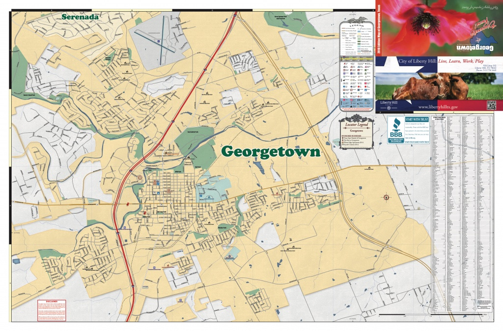 2018 Edition Map Of Georgetown, Tx Pages 1 - 2 - Text Version | Anyflip - Georgetown Texas Map