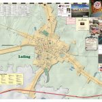 2018 Edition Map Of Luling, Tx   Luling Texas Map