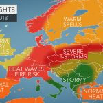 2018 Europe Summer Forecast: Intense Heat To Seize France To Germany   Southern California Heat Map