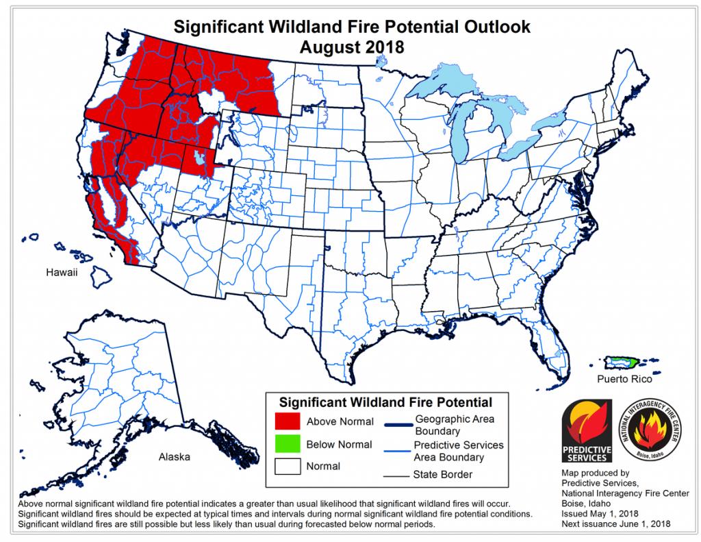 2018 Wildfire Season - Wikipedia - Texas Active Fire Map