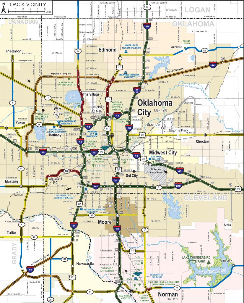 2019-2020 State Map - Oklahoma State Map Printable