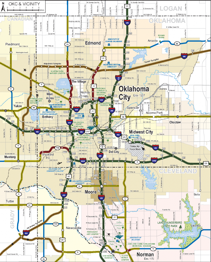 2019-2020 State Map - Road Map Of Texas And Oklahoma
