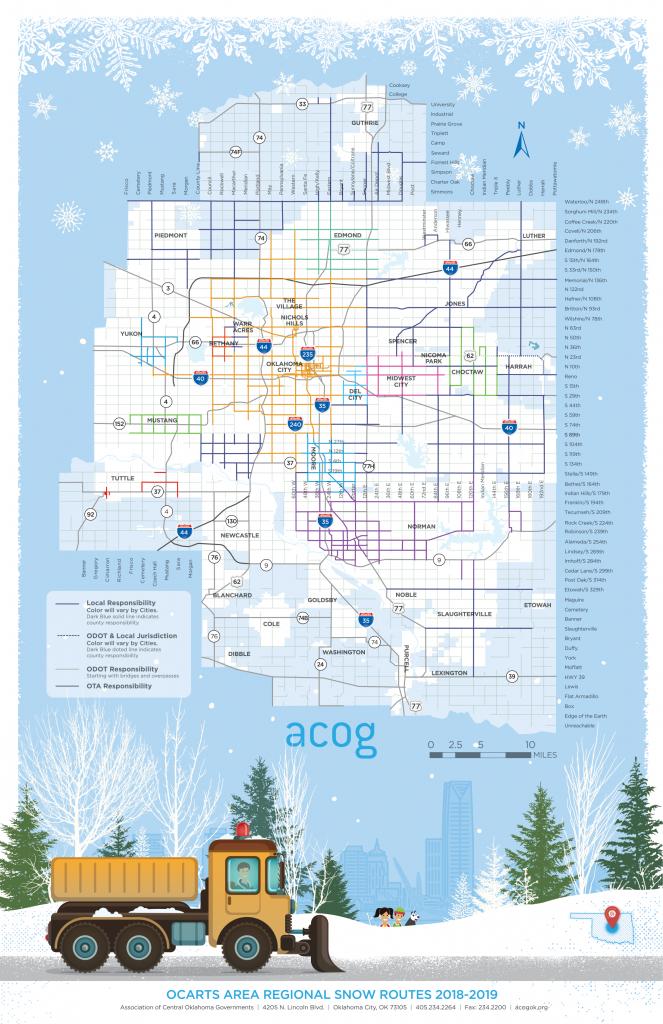 2019 Free Printable Snow Route Map For Okc Region | Acog - Printable Route Maps